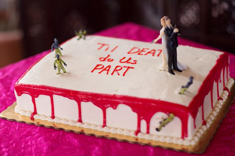 Zombie Apocolypse Groom's Cake