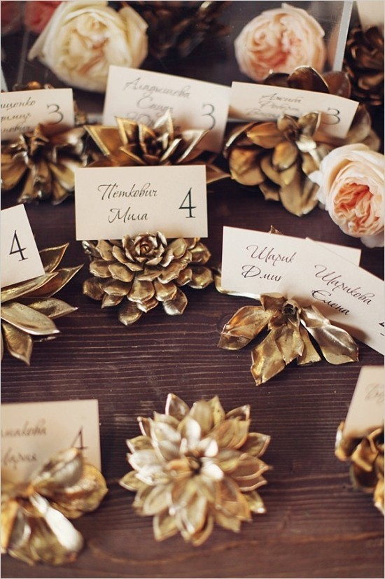gold-painted-succulent-escort-card-holders
