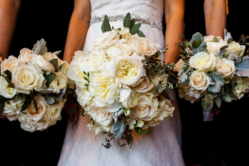 Bride Bouquet with Garden Roses