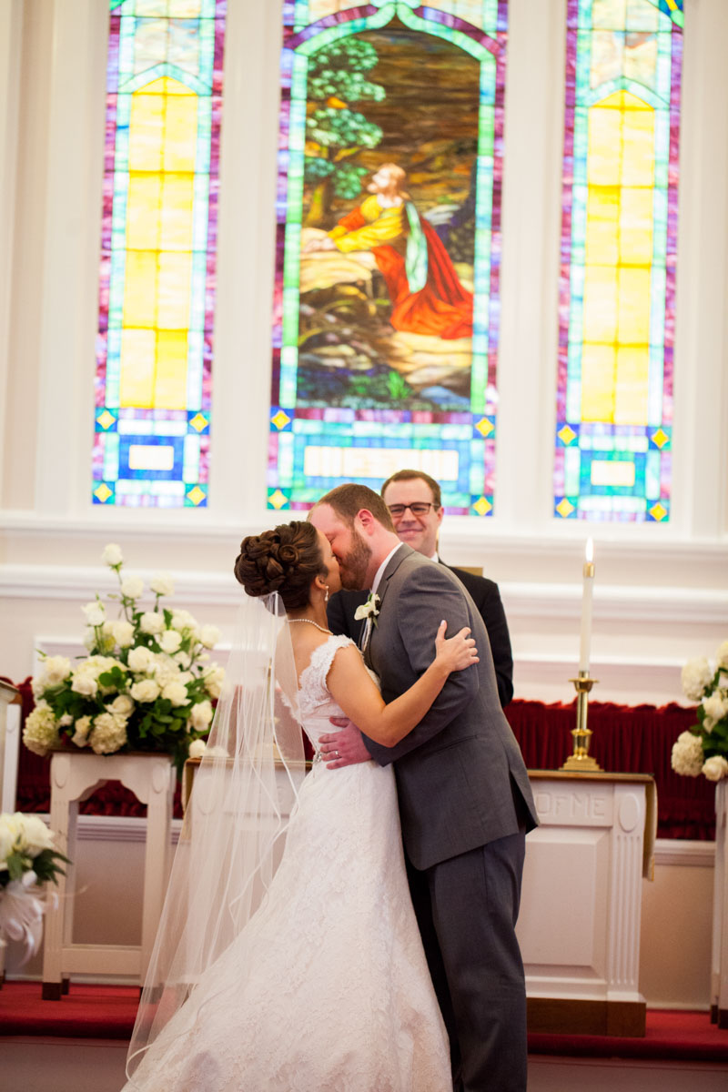 Church Wedding First Kiss