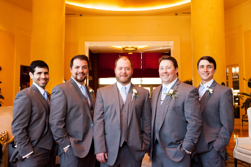 Groom with groomsmen portrait