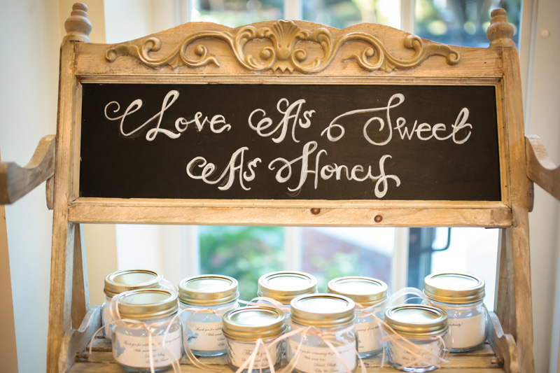 Personalized party favors in mason jars
