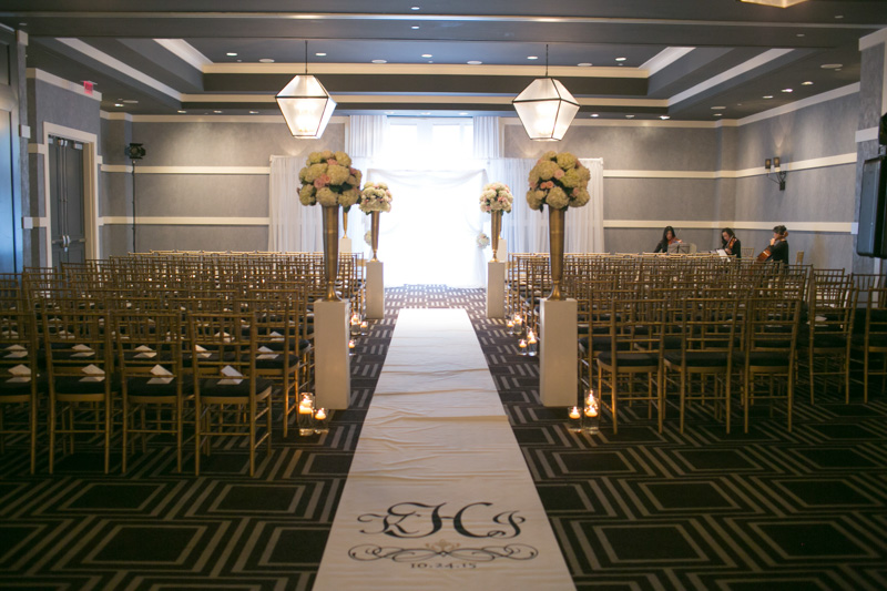 Simple Chiavari Chair Ceremony Setup at W Atlanta Buckhead