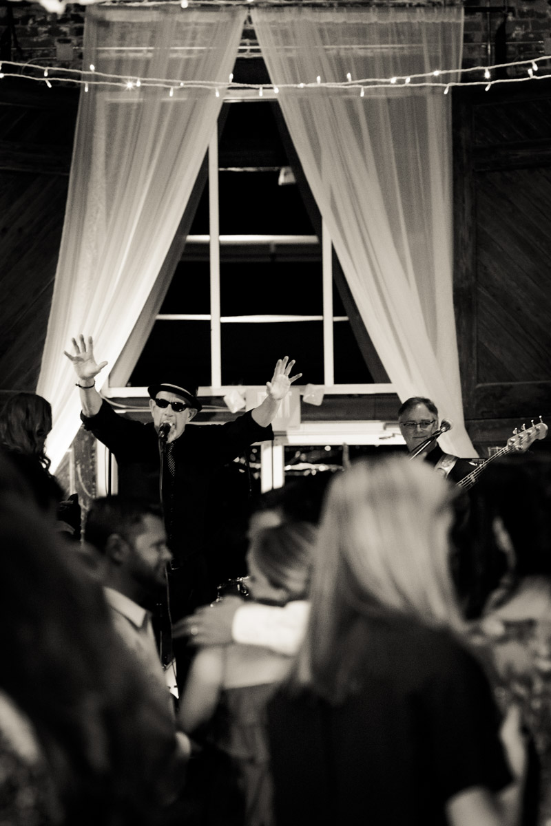 Wedding band at reception