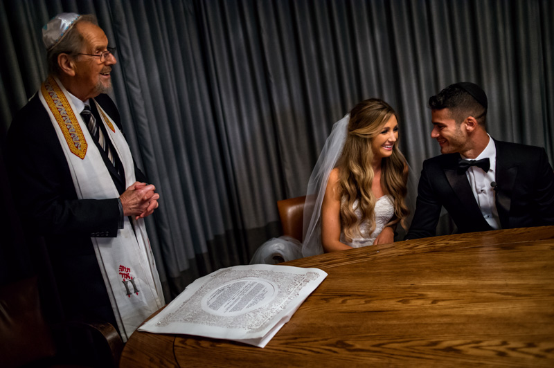 Bride and Groom Ketubah Signing Ceremony