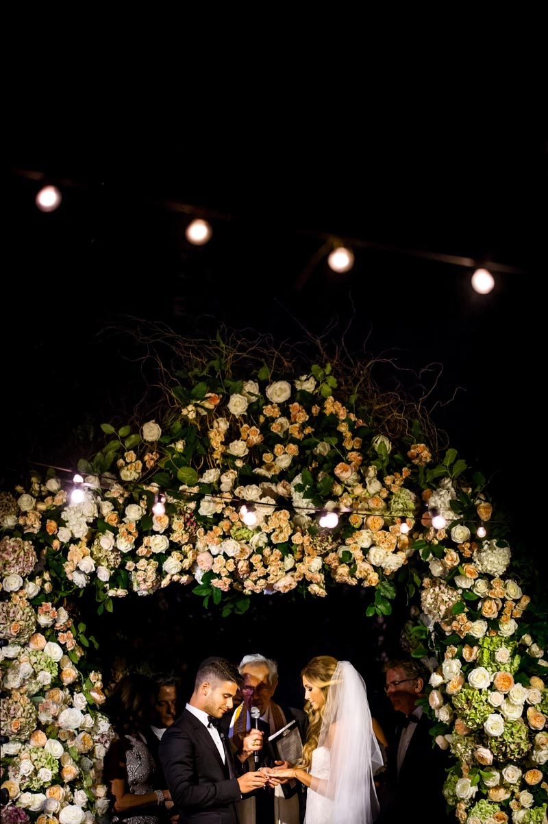 Lavish Garden Rose Chuppah Jewish Wedding Ceremony