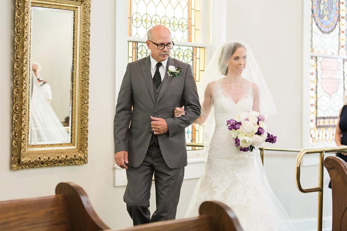 bridewalkeddownaisle