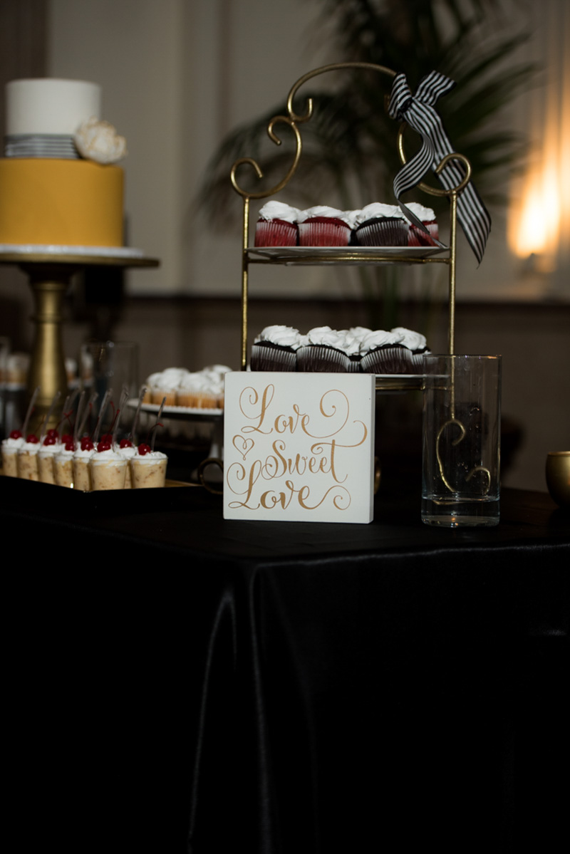 cupcake wedding dessert table