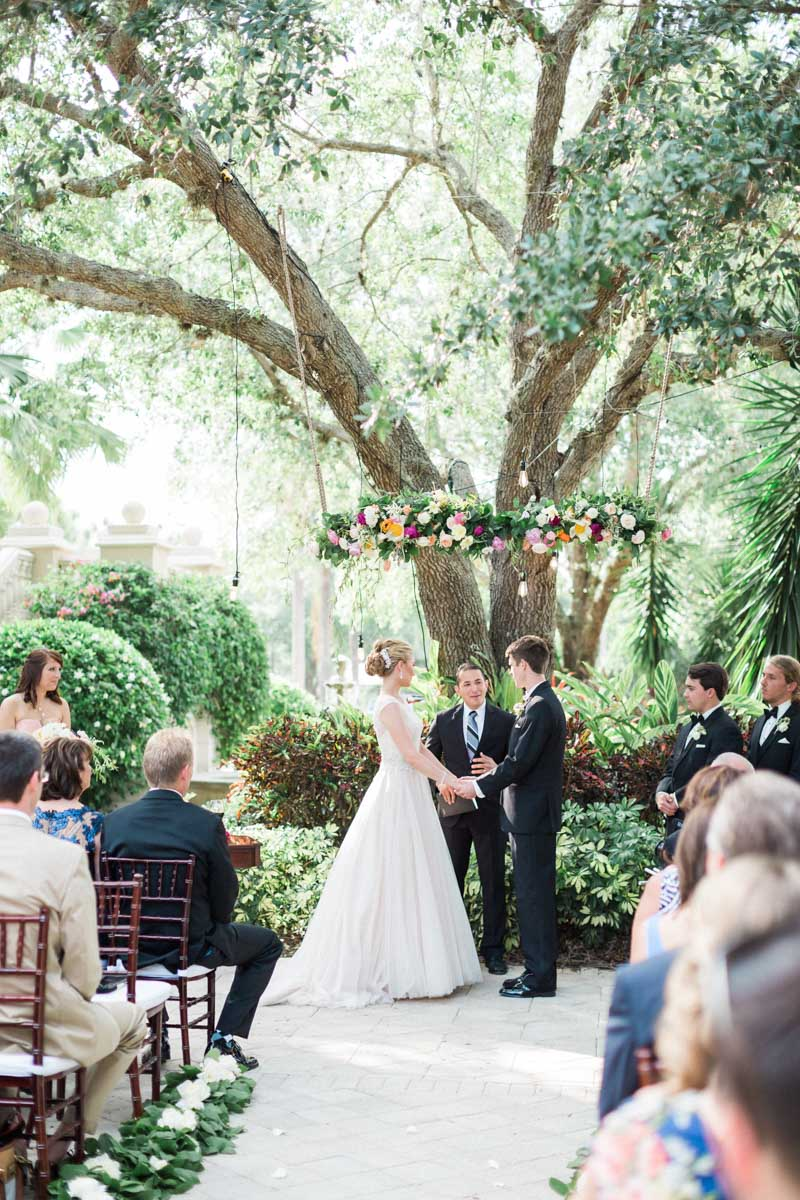 A dreamy blush wedding at the club at the strand in naples for Images of outdoor weddings