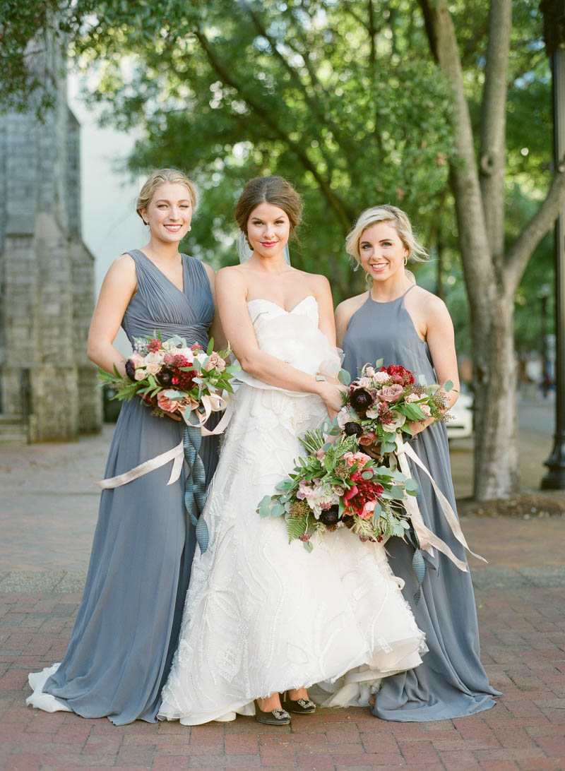gray bridesmaid dresses donna morgan
