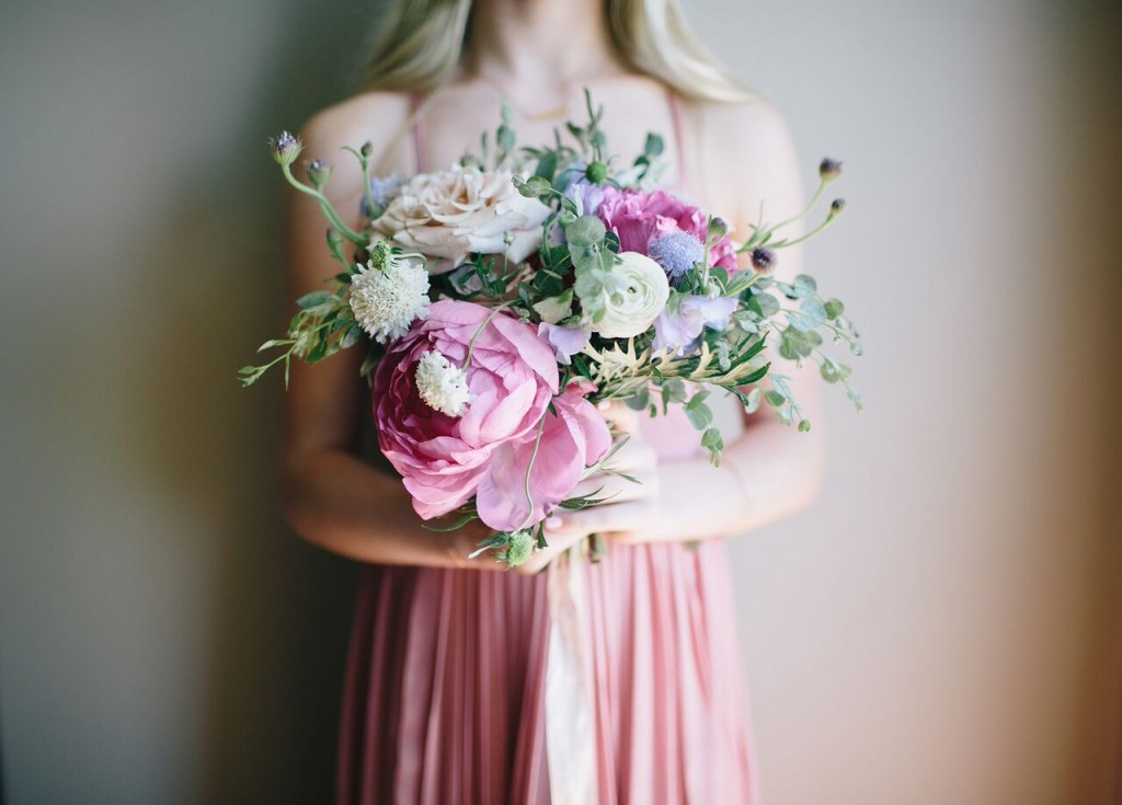 jessica Janae photography danielle rothweiler event design bridesmaids pink dresses and bouquets