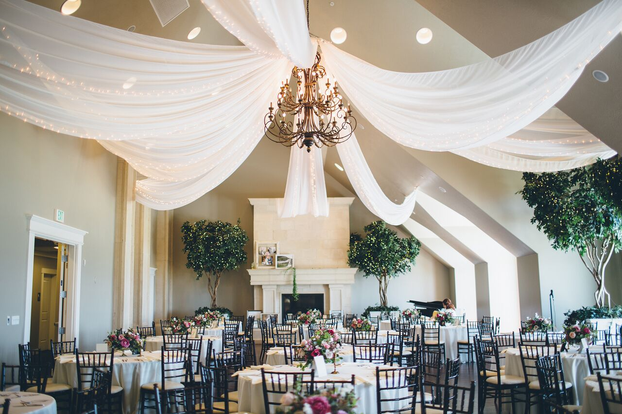 weddings reception decor venue sleepy ridge event events diy before draping problems trees know need janae jessica rothweiler room celebration