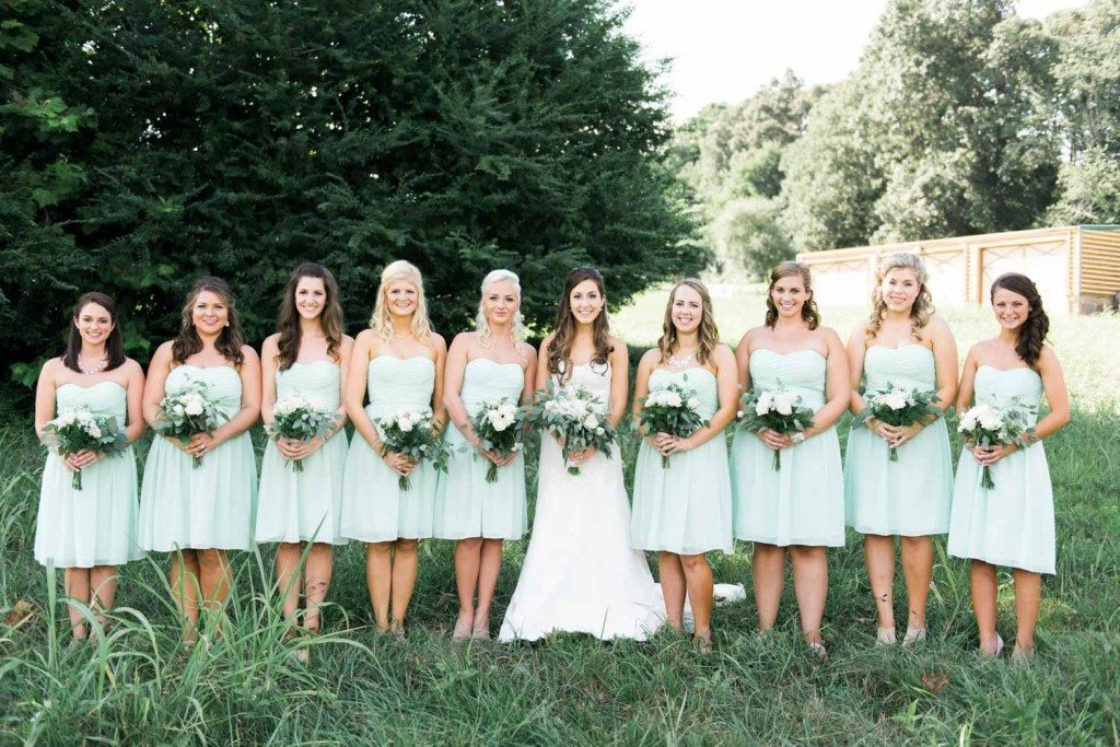 Mint Bridesmaid Dresses Holly Von Lanken Photography 4