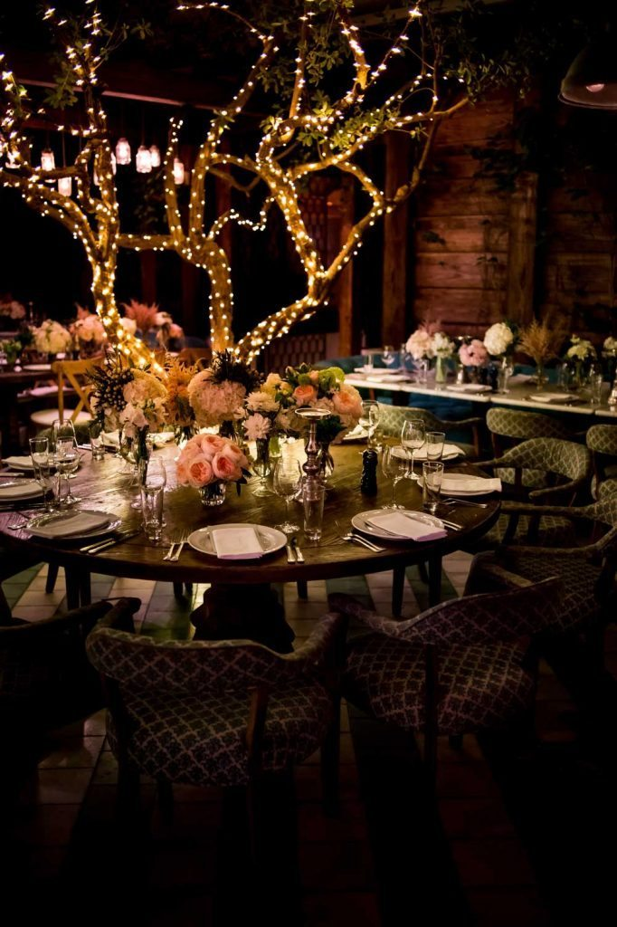 Rustic Round Wood Wedding Table Decor The Celebration
