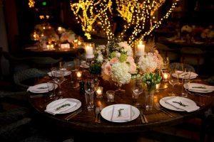 Rustic Round Wood Wedding Table Decor The Celebration