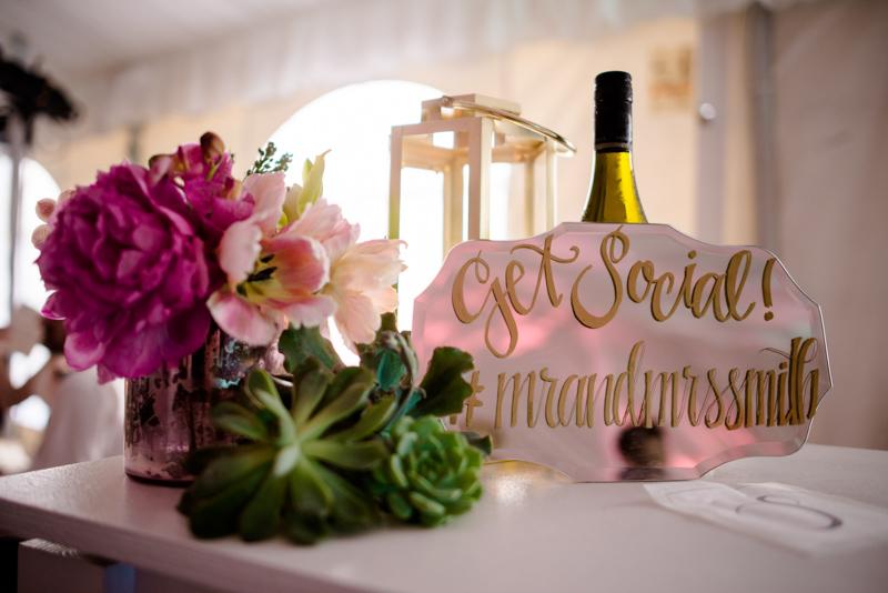 weddingreceptionhashtagcenterpiece