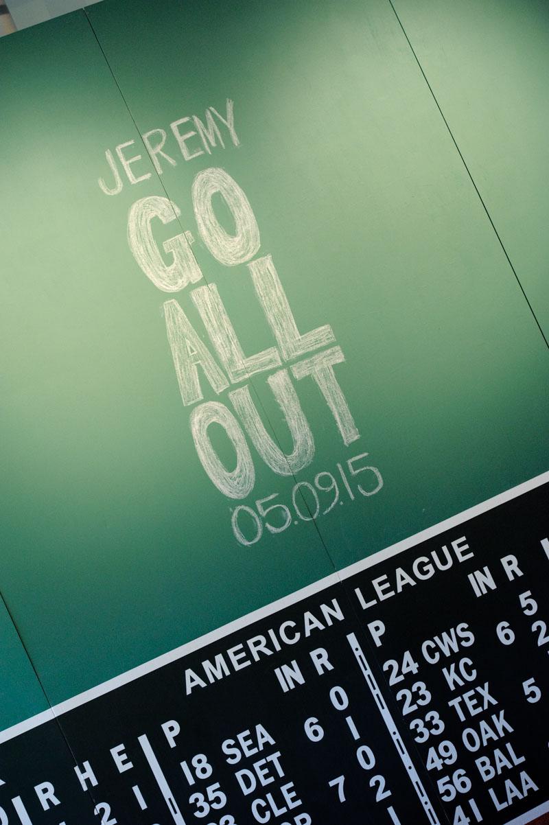 Baseball Scores Chalk Wall Decor