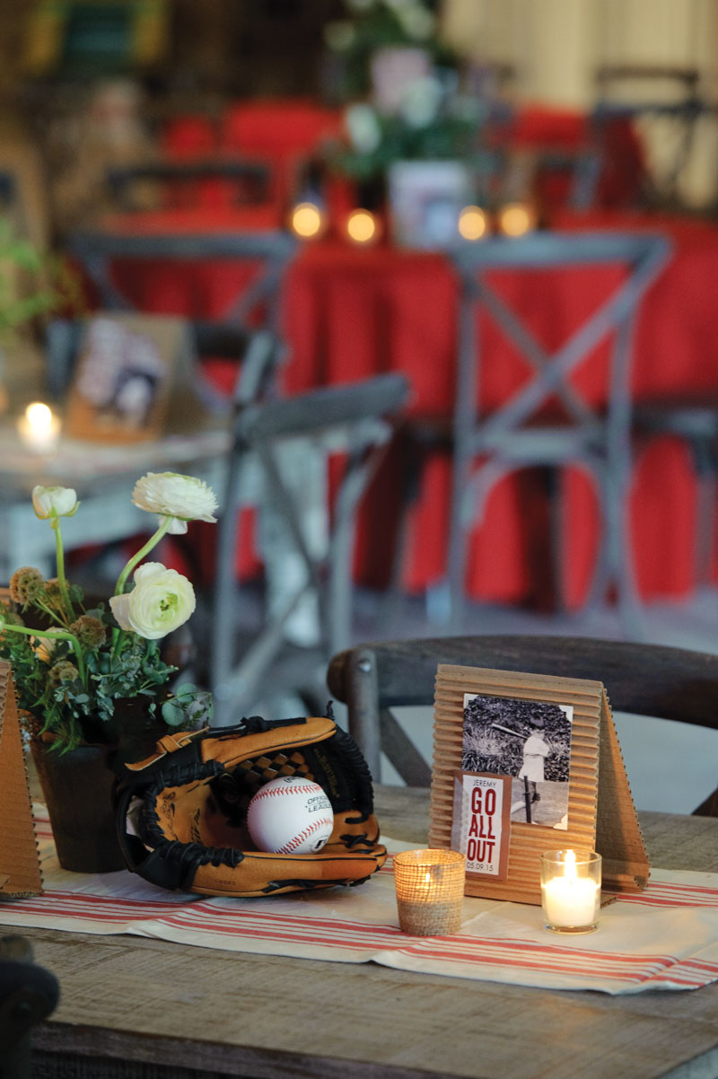 Baseball Themed Cardboard Center Pieces With Pictures