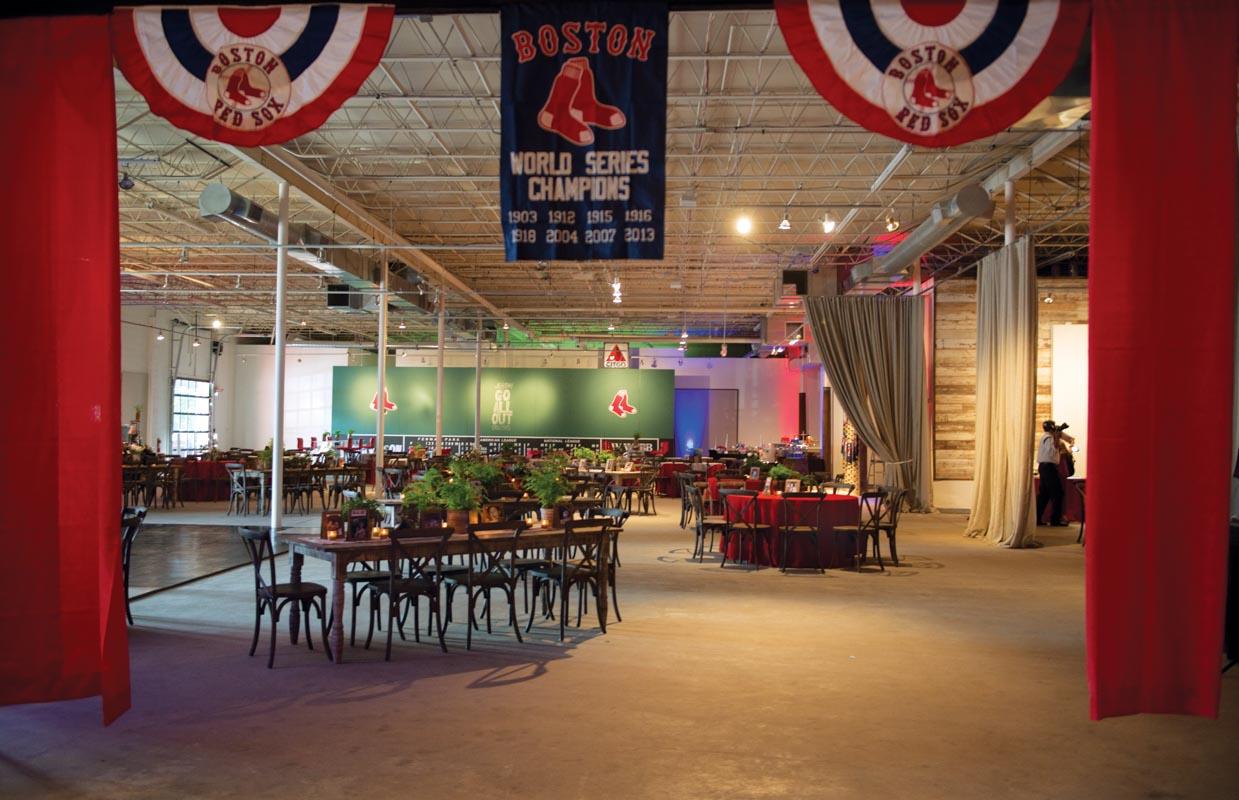 Boston Red Sox Baseball Themed Party Venue