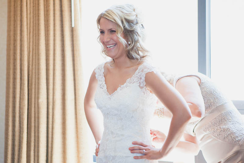 Bride Smiling in Dress