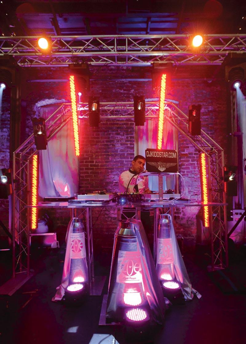 DJ set up at mitzvah