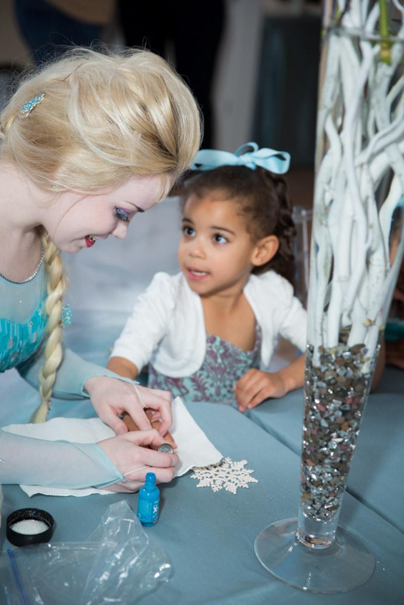 Elsa Painting Birthday Girls Nails
