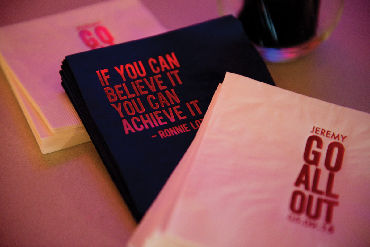 Football Player Quotes on Napkins