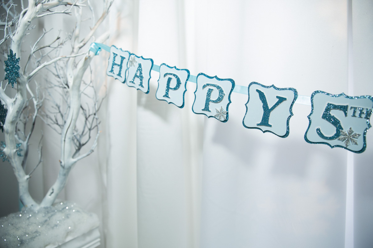 Frozen Themed Happy Birthday Banner