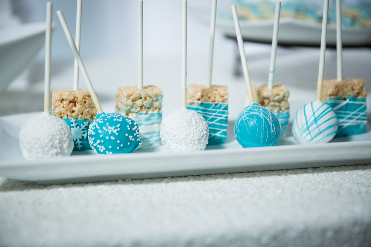 Frozen Themed Rice Krispies and Cake Pops