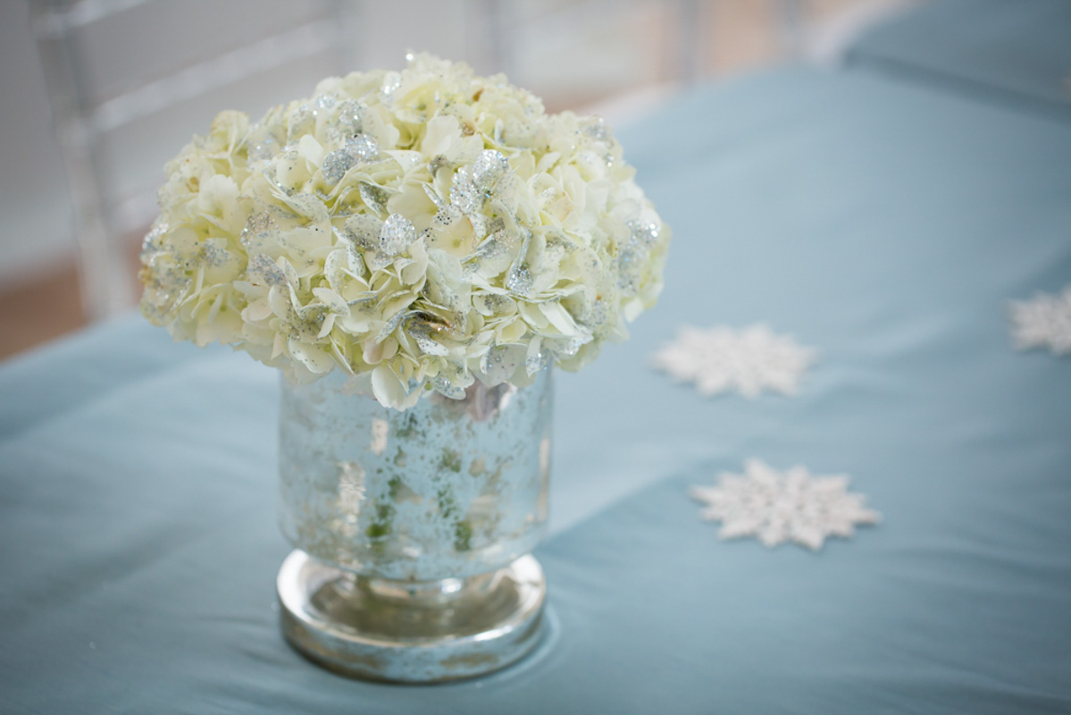 Frozen Themed White Floral Centerpiece 2