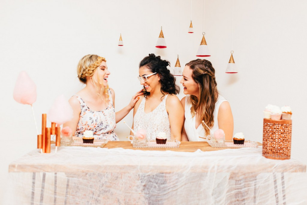 Girls Sitting at Table