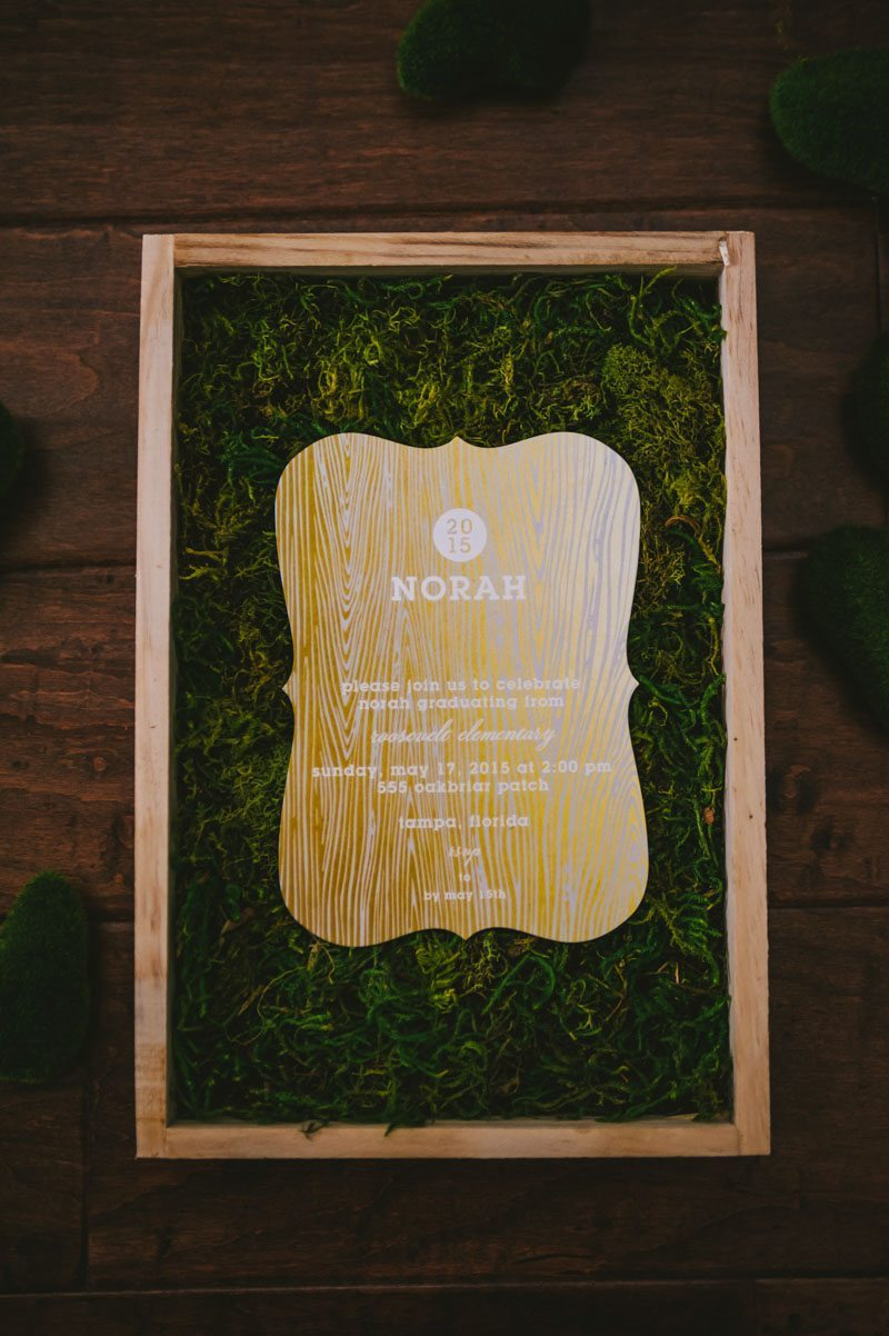 Rustic Woodland Themed Graduation Party In Tampa FL