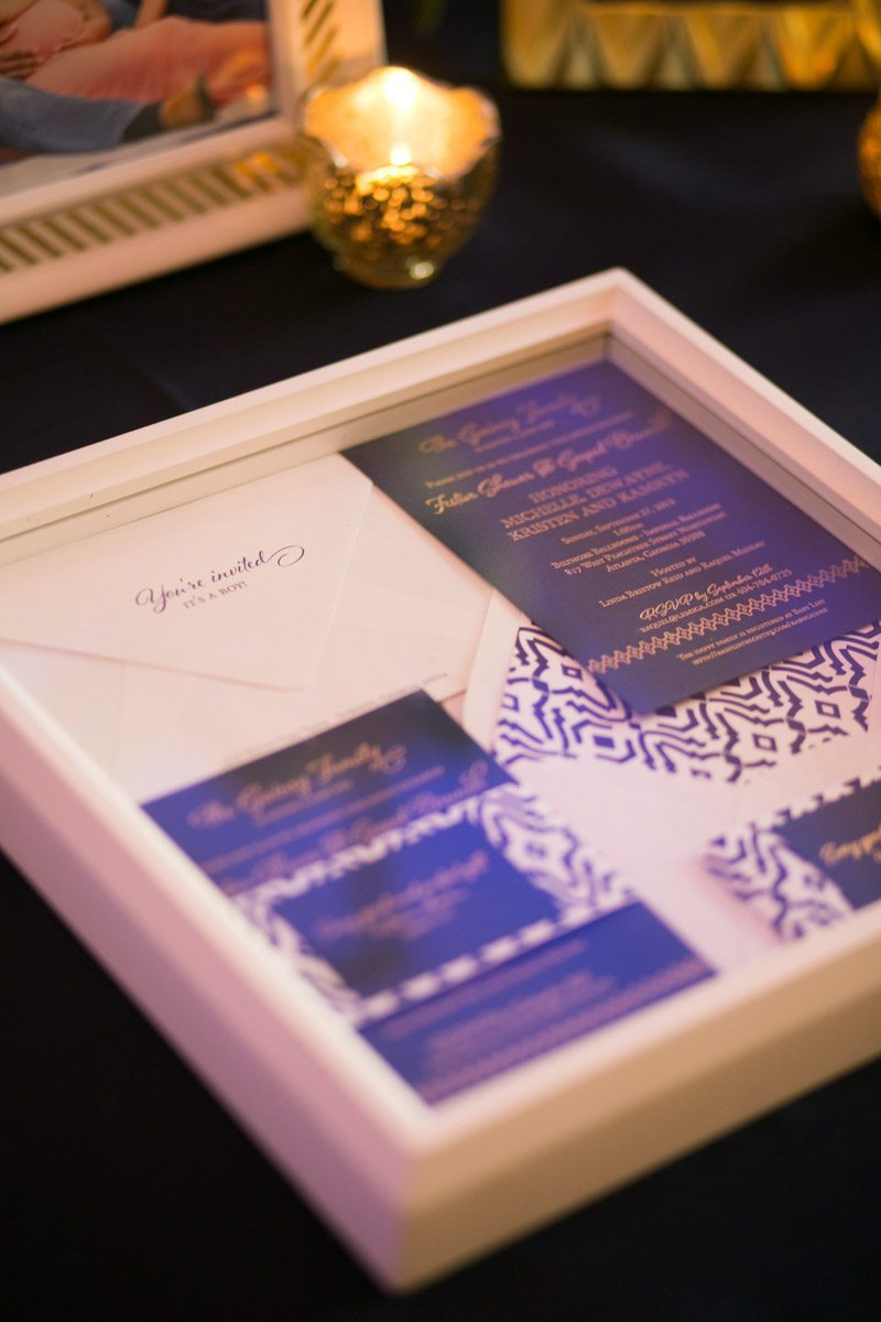 Navy and Gold Invitation Suite