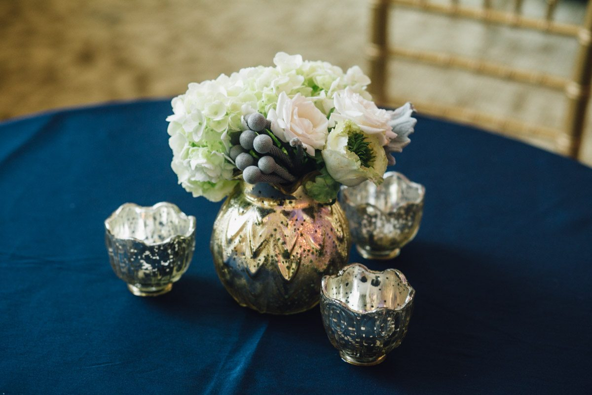 Navy and White Centerpiece