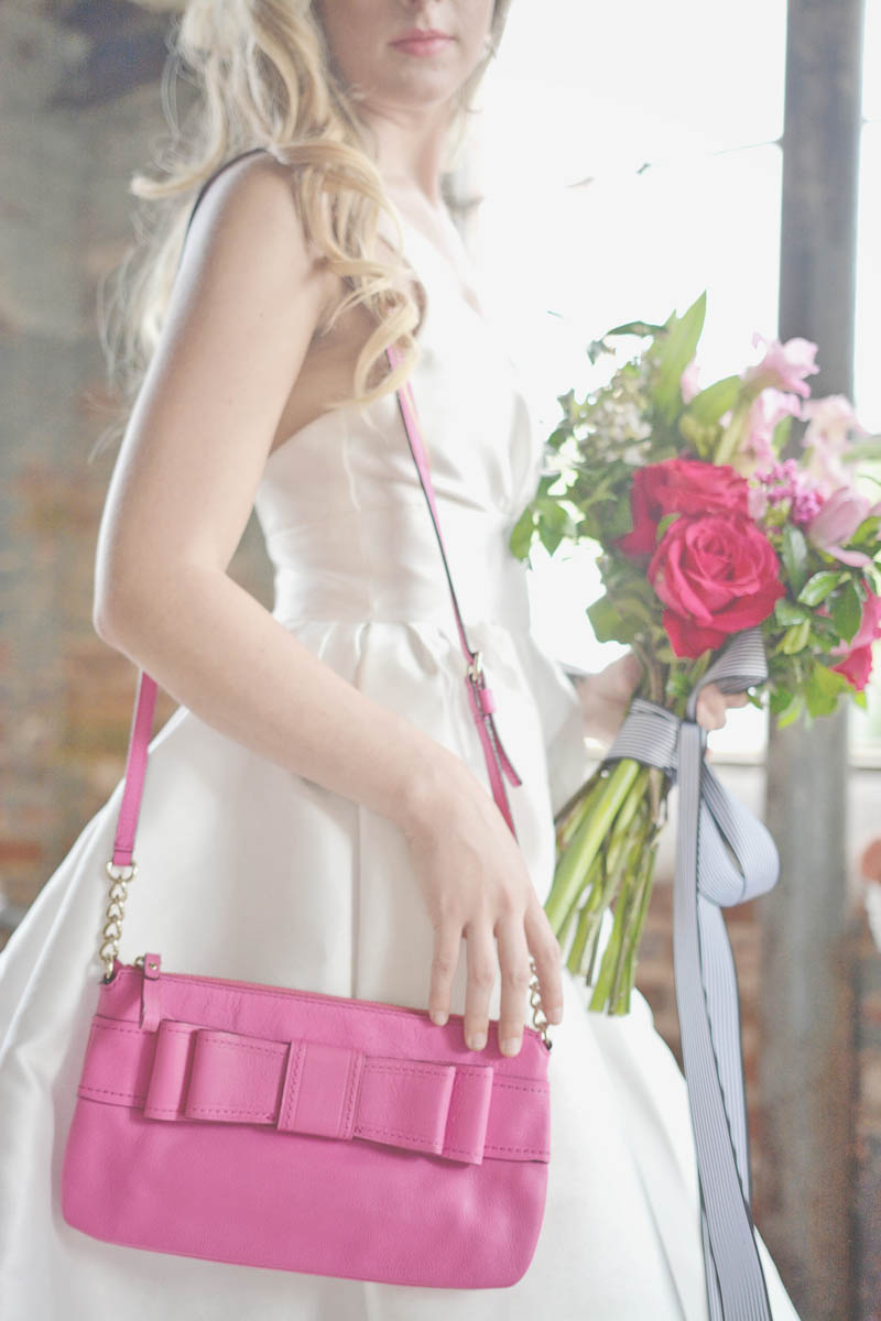 Pink Kate Spade Bag and Flowers
