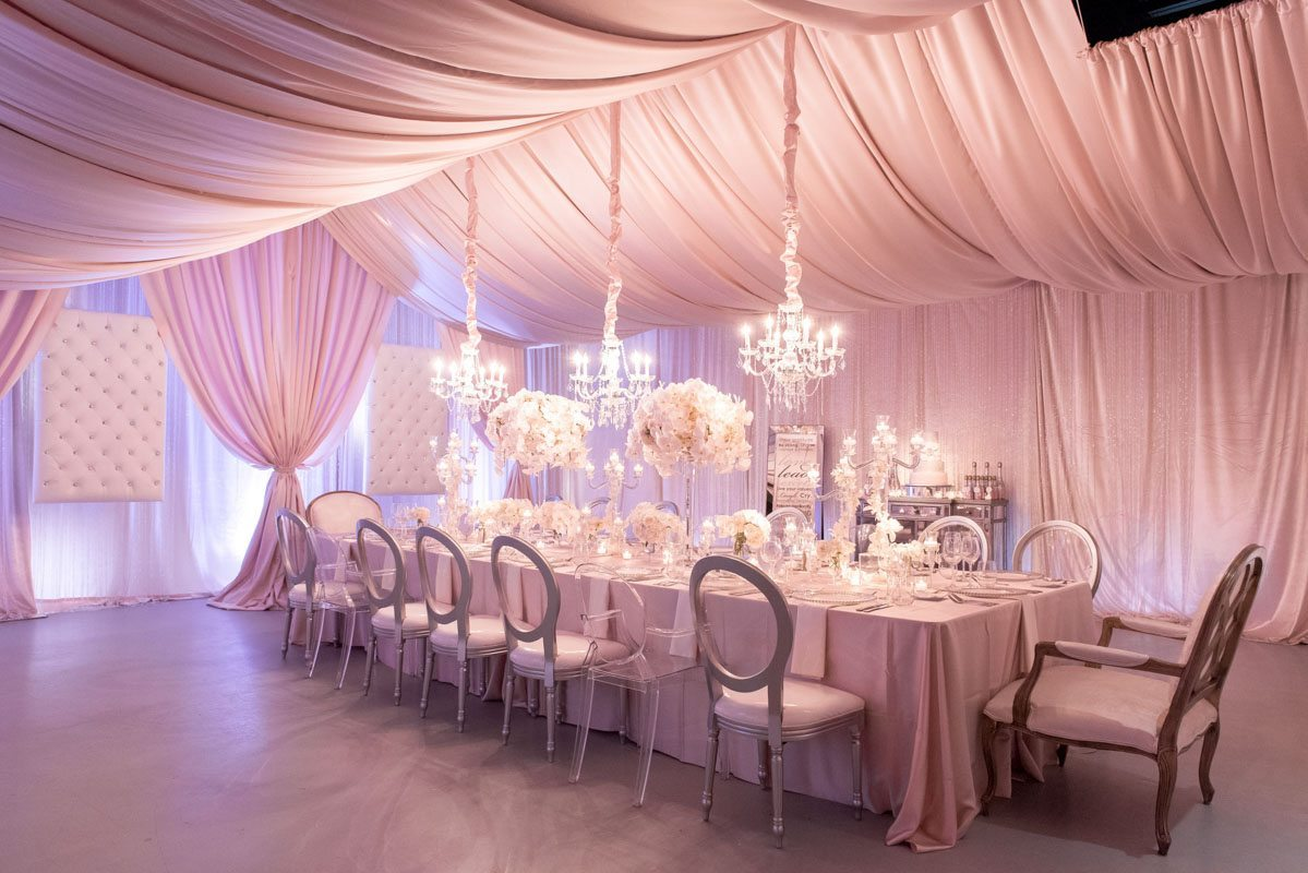 Pink and White Party Decor