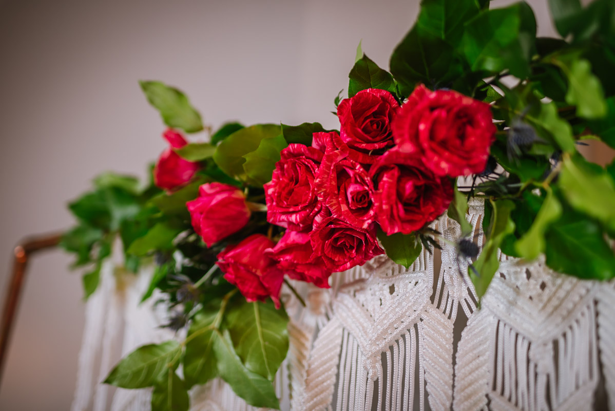 Red Roses Floral Arrangement Party Decor