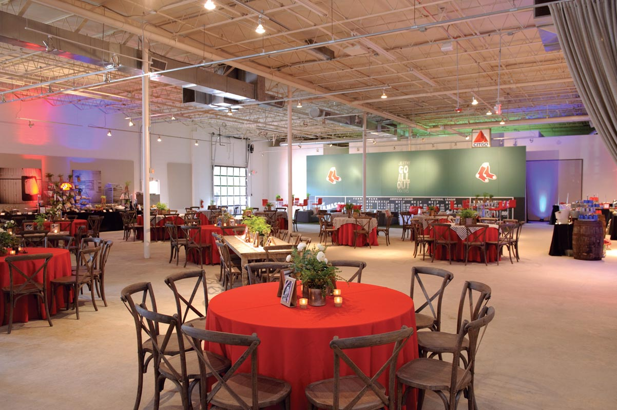 Red Sox Themed Party Decor