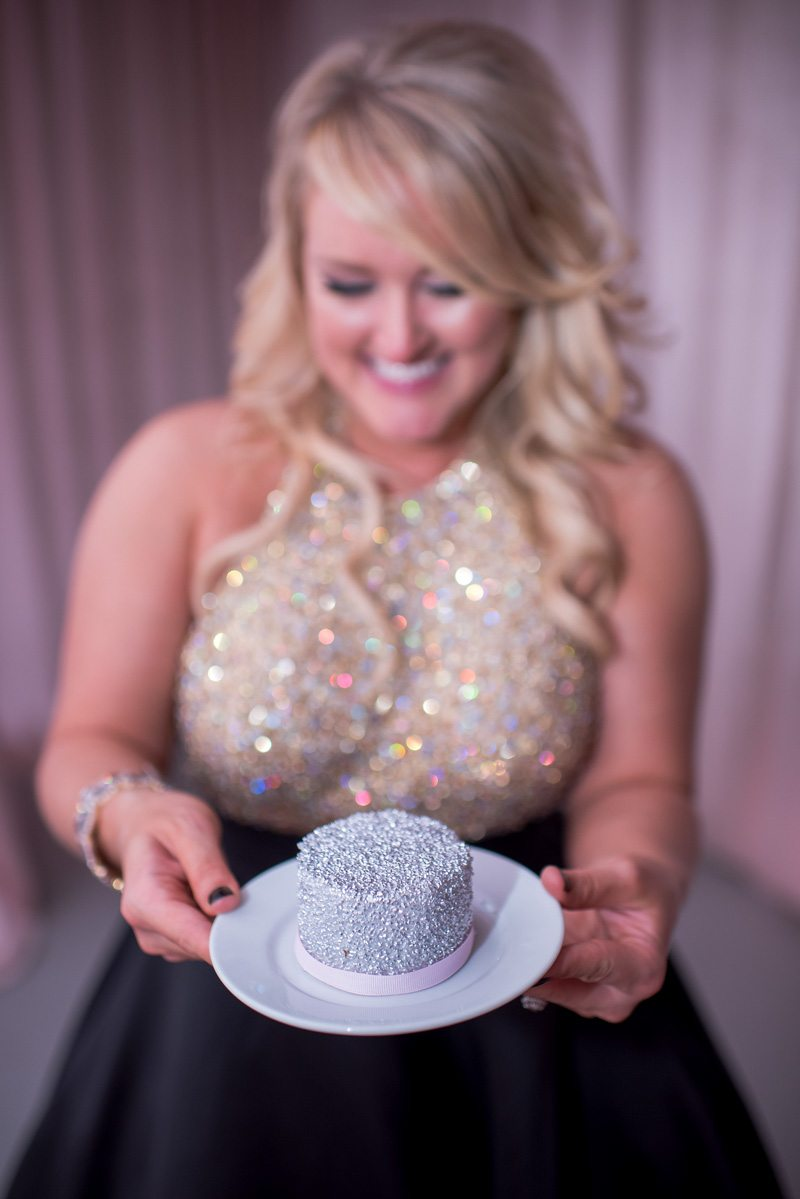 Silver Sparkle Personal Cupcake