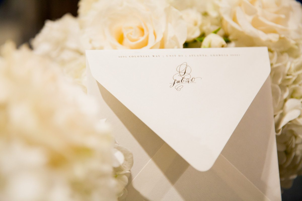 White Invitation Envelope