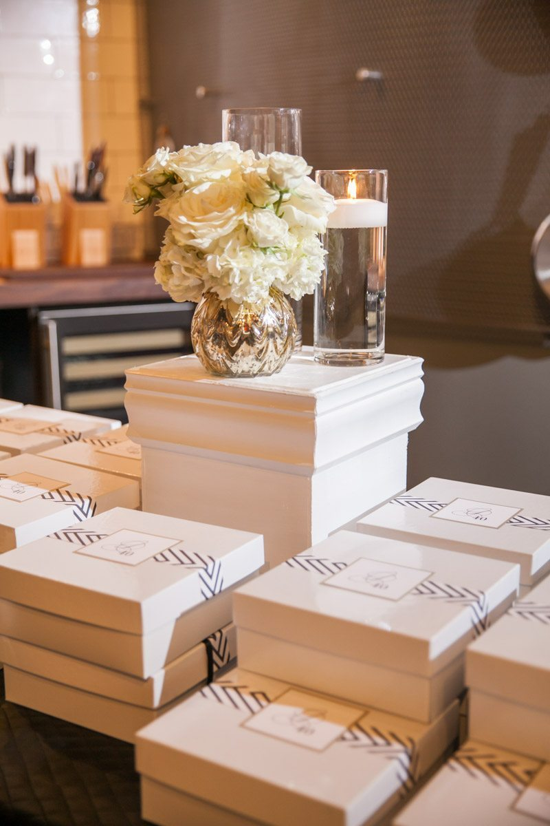 White Party Favors Giftboxes