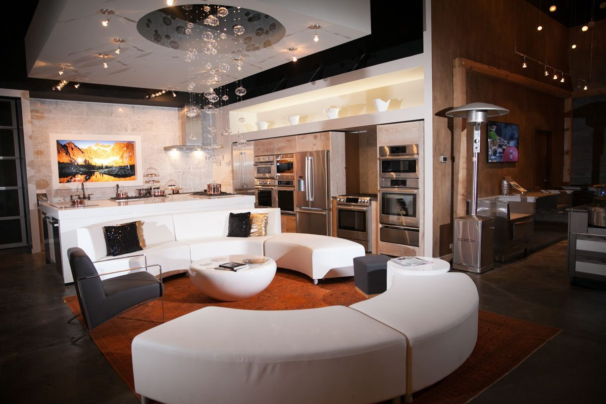 White and Black Lounge Area With Couch Seating