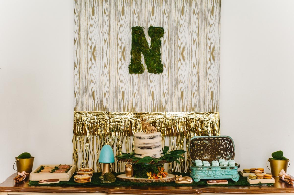 Wise Owl Woodland Styled Dessert Table