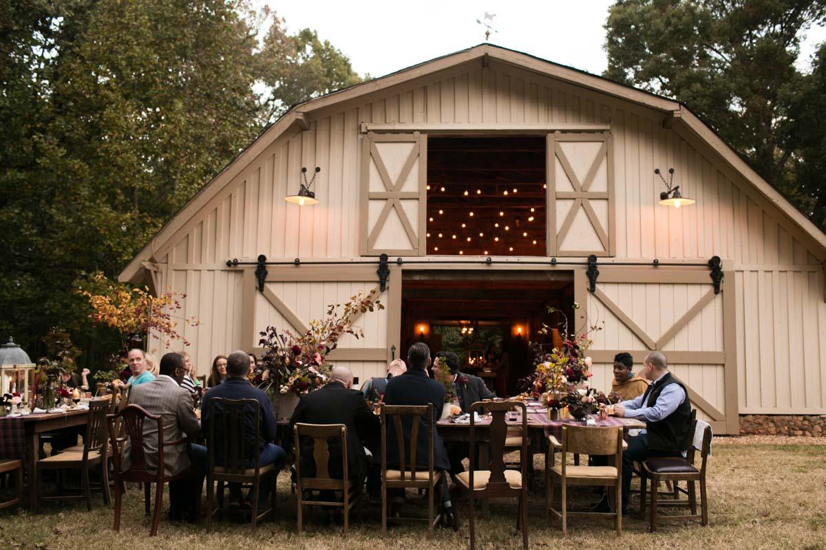 anniversary party at barn venue