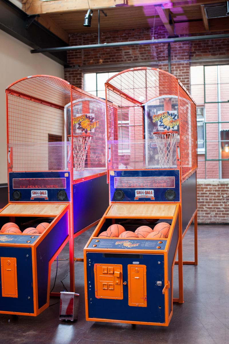 basketball arcade game at mitzvah