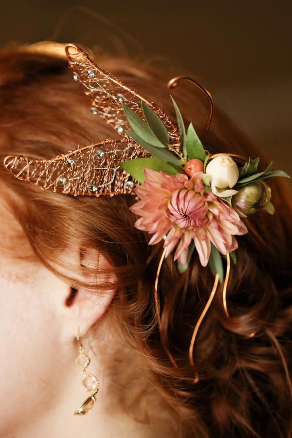 brides flower hair piece