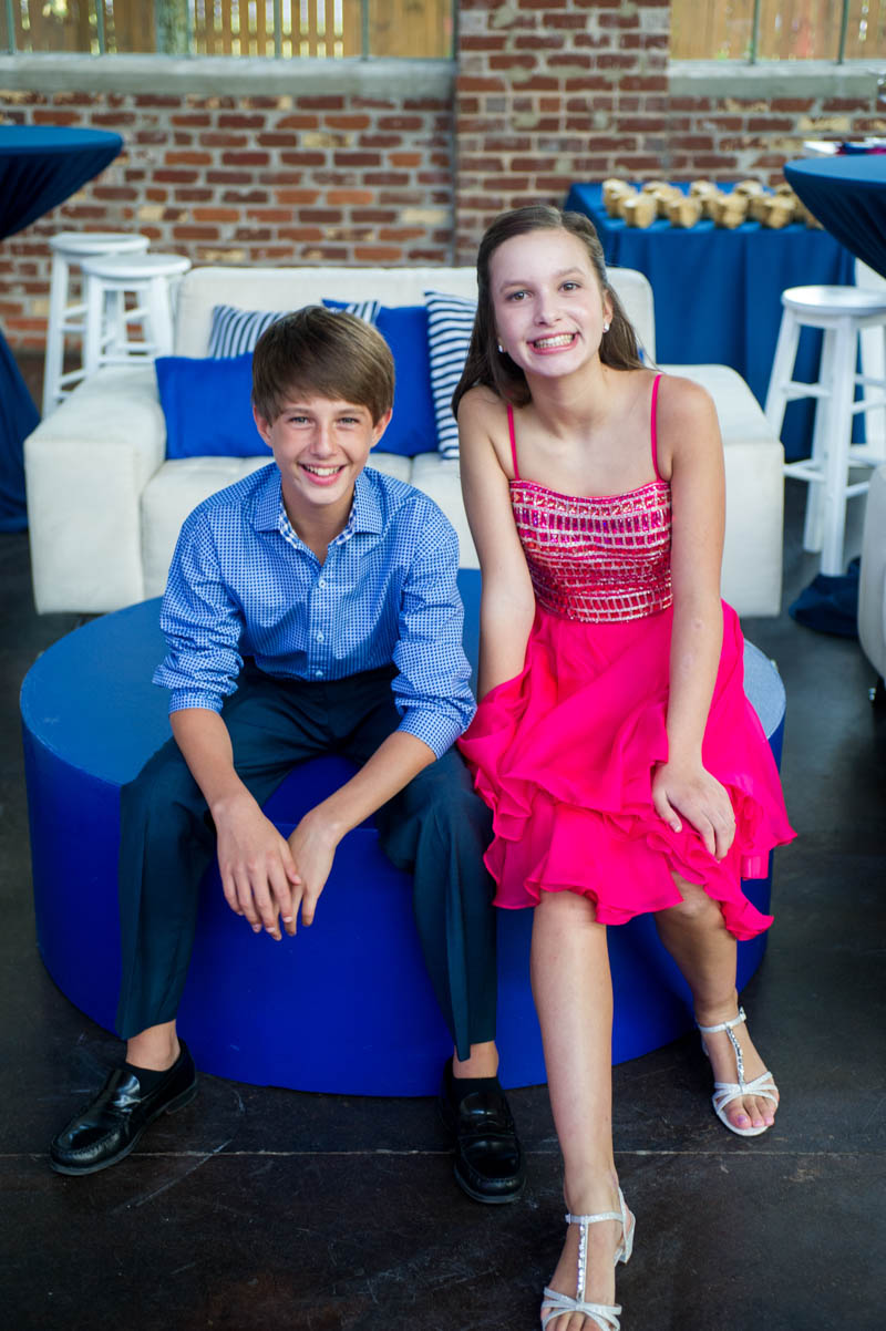 brother and sister celebrating mitzvah