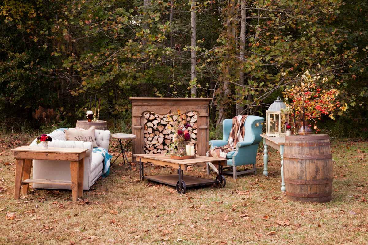 cozy outdoor seating arrangement