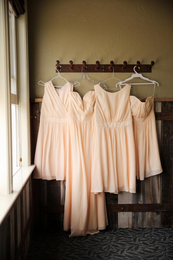 cream colored bridesmaids dresses