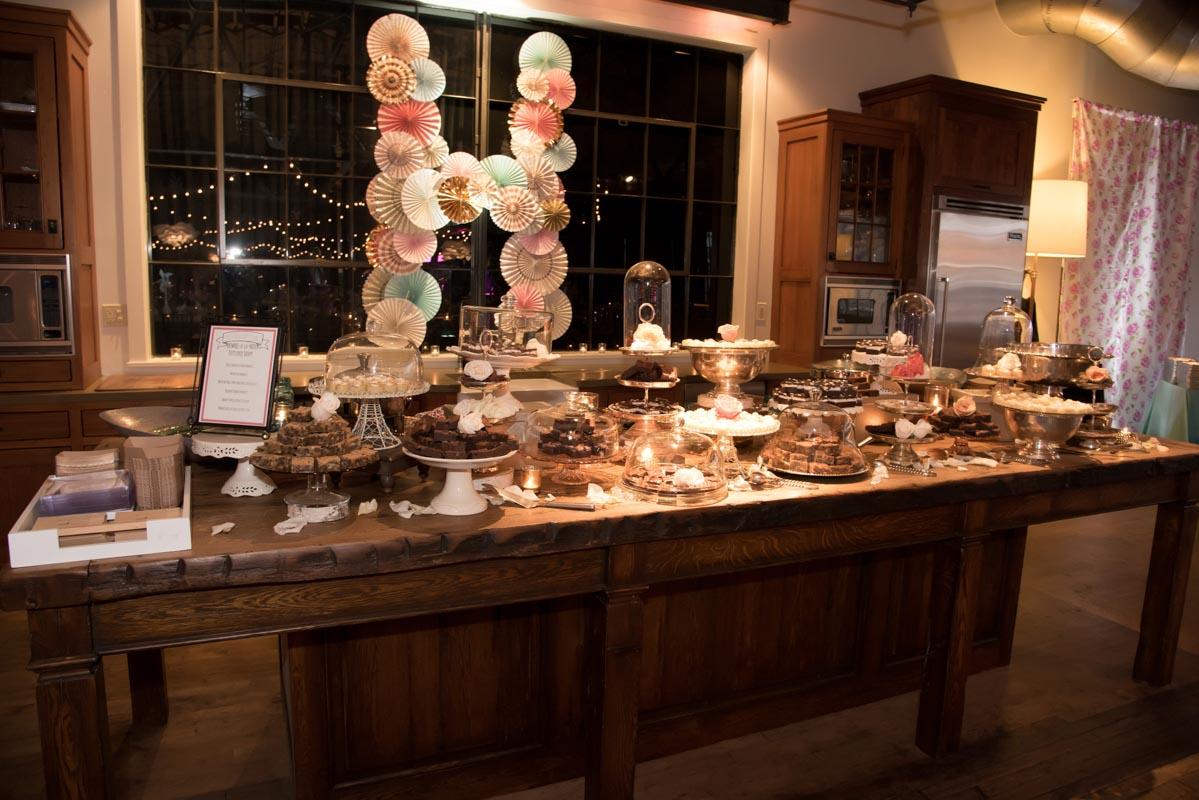 dessert bar with DIY letter H decoration